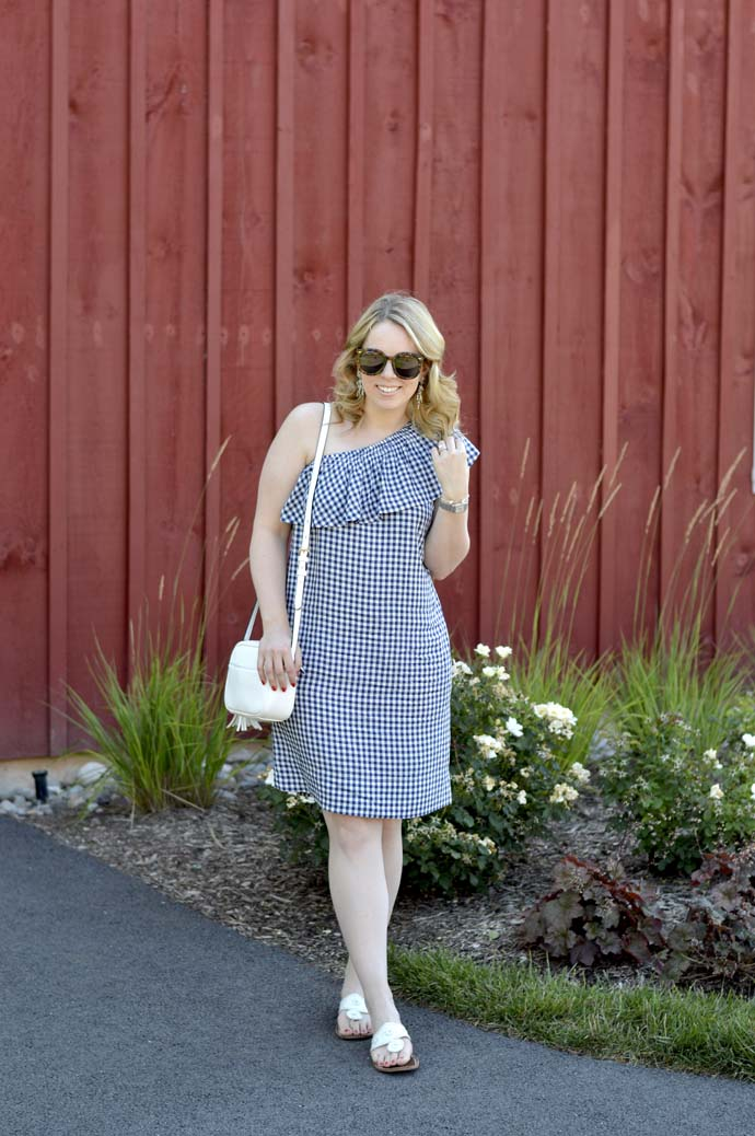 gingham summer dress outfit