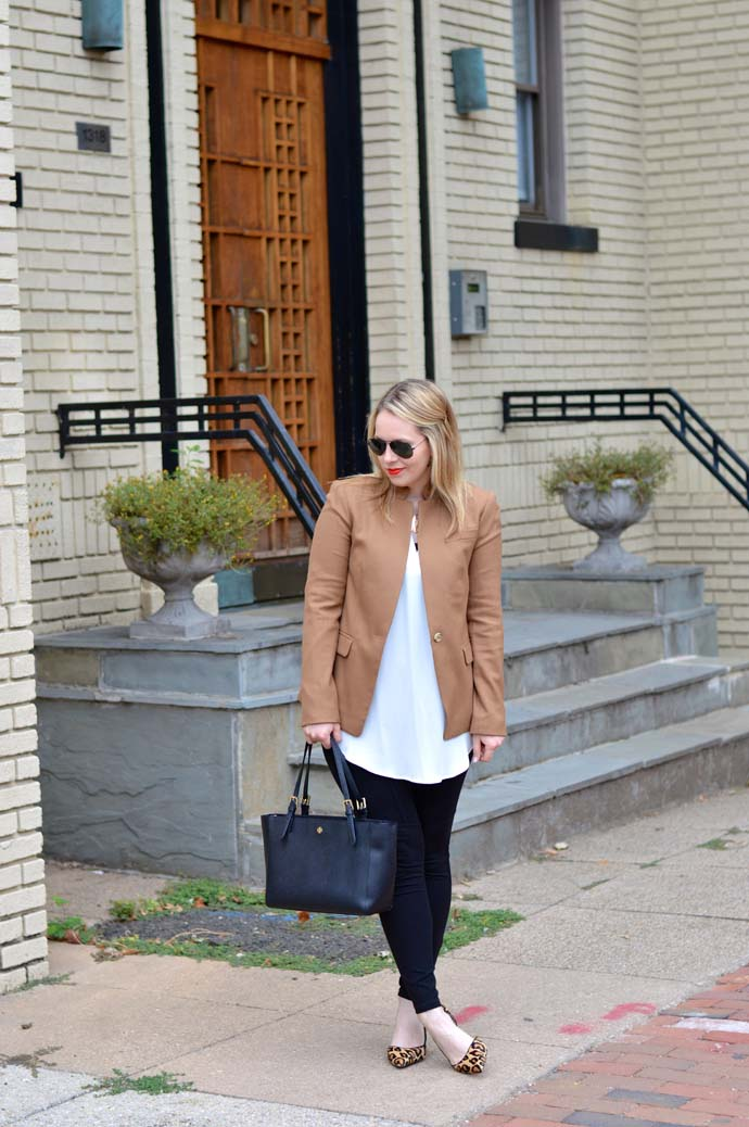 lush tunic blazer outfit