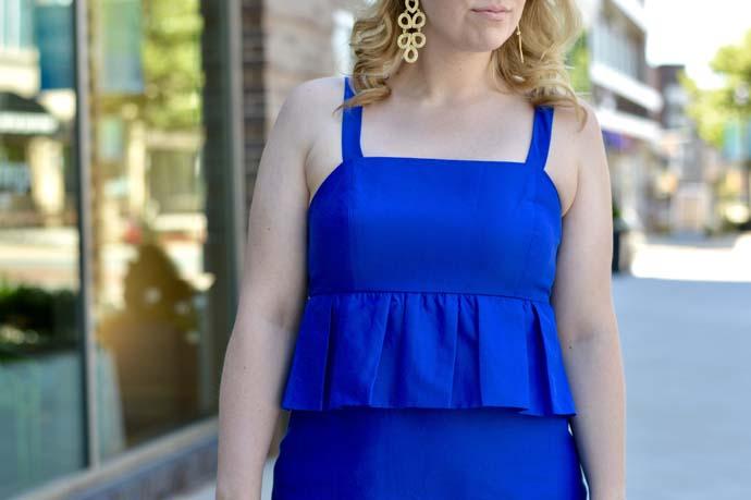 peplum detail dress