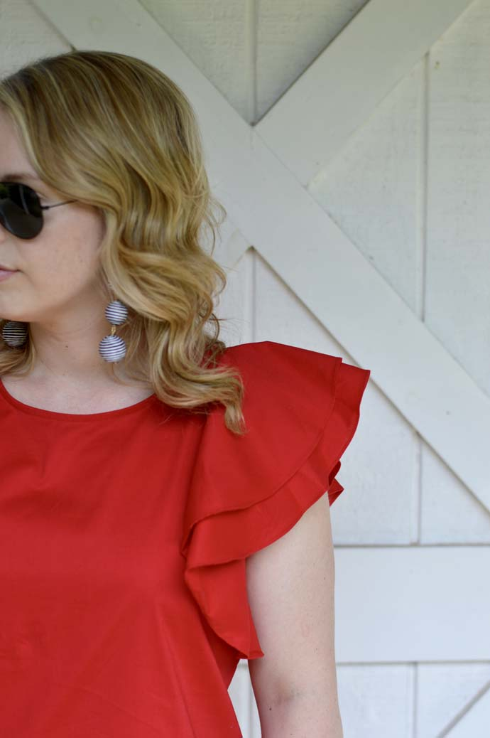 nordstrom anniversary sale ruffle top