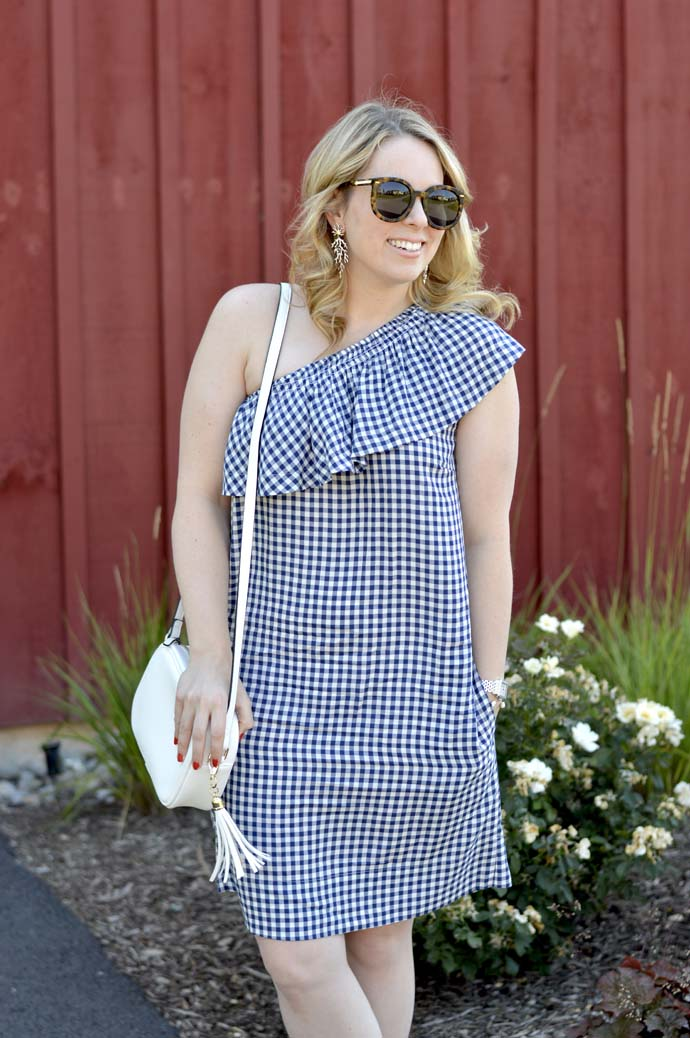 summer gingham dress