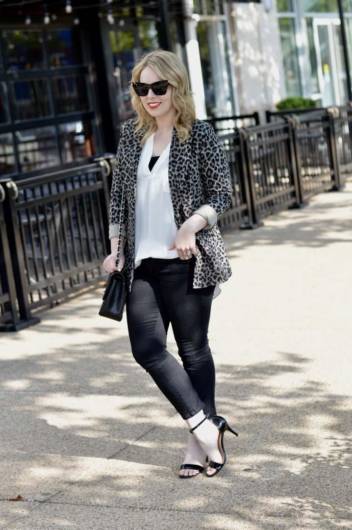 cabi leopard jacket blogger