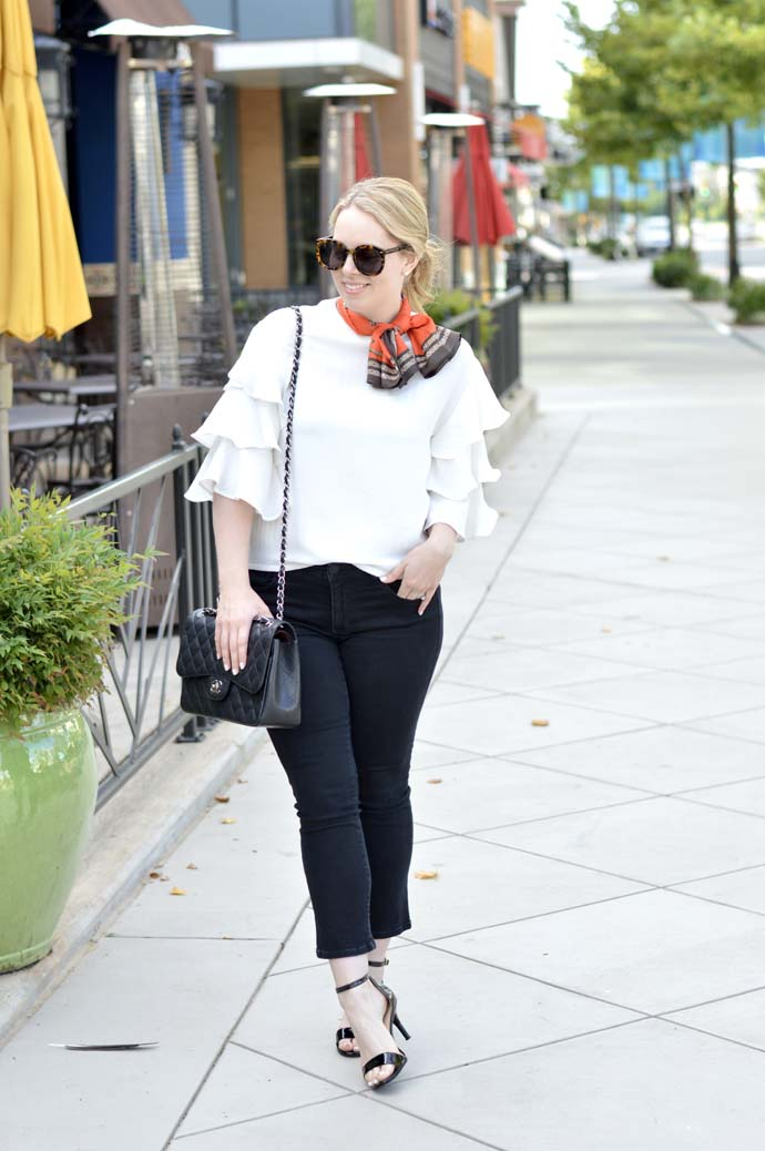 casual summer to fall transitional outfit