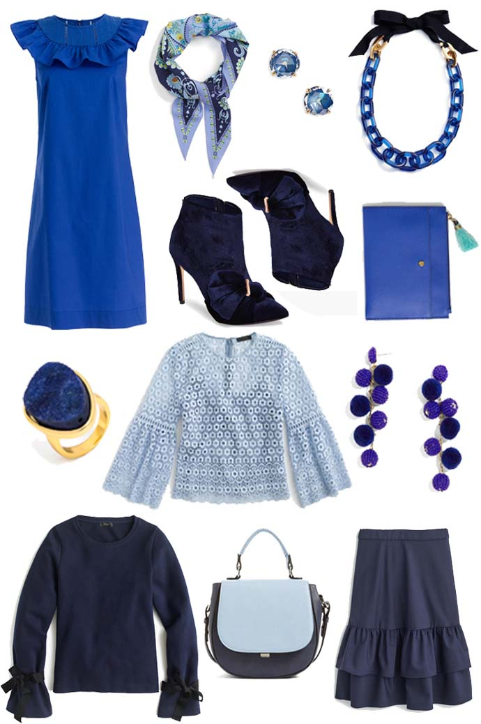 blue outfit inspiration for fall