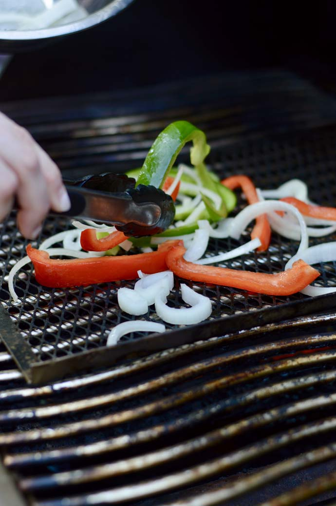 how to grill peppers and onions
