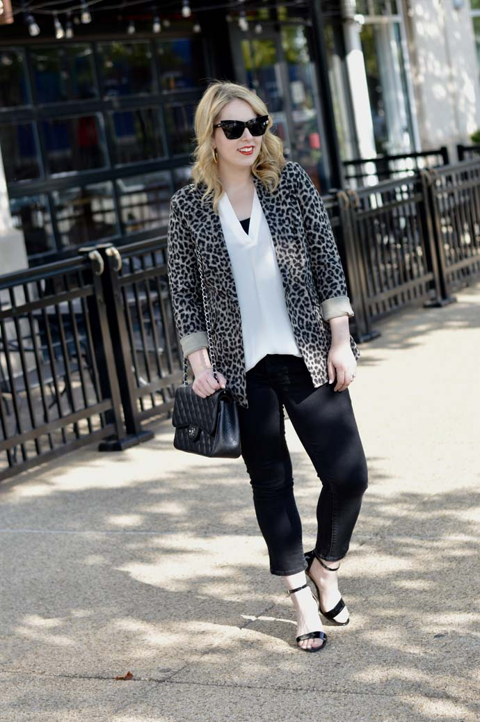how to wear a leopard jacket