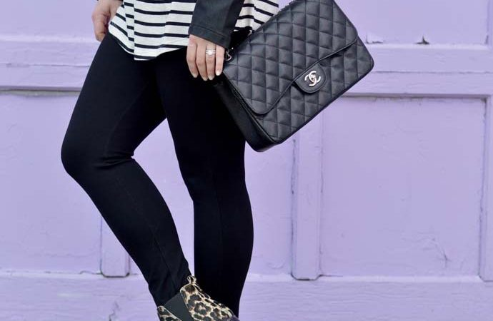 Pattern Mixing with Leopard and Stripes