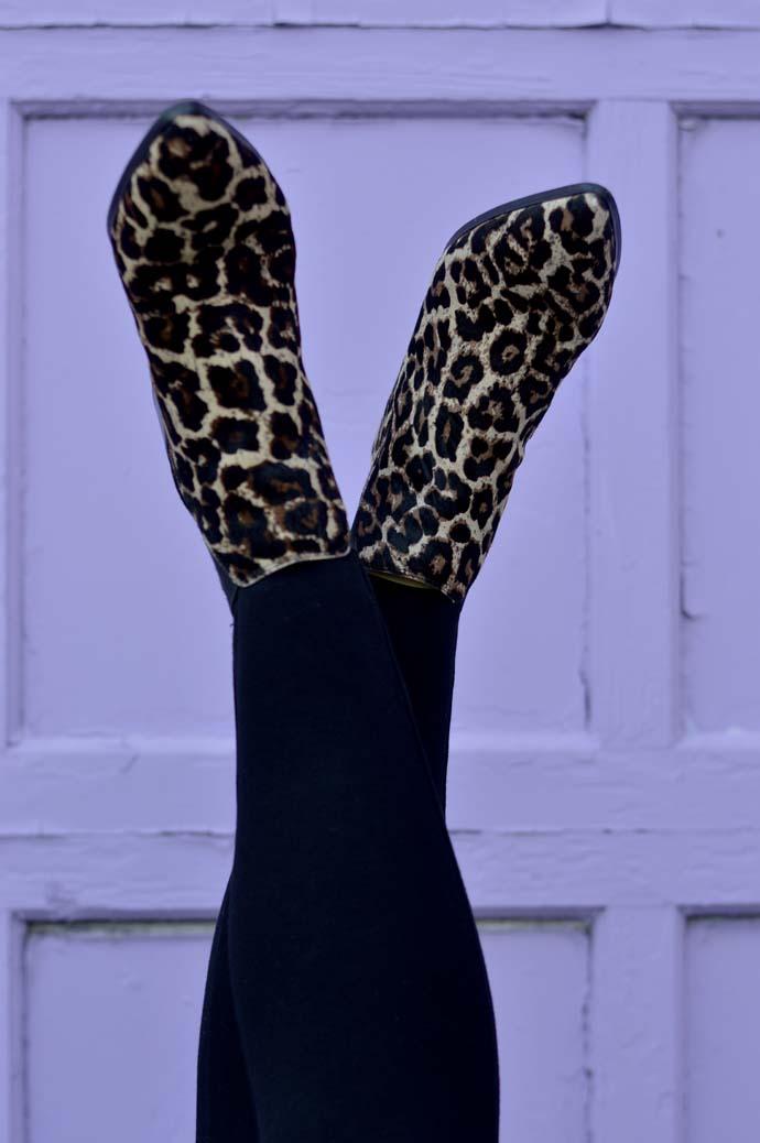 leopard booties nordstrom