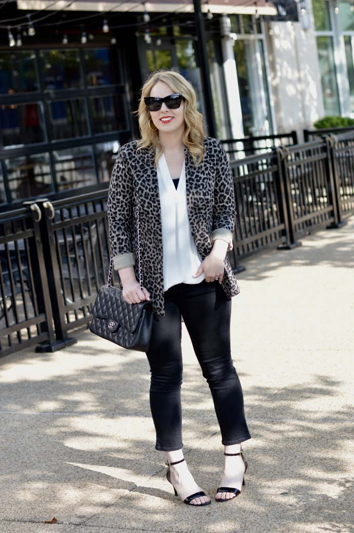 leopard jacket fall outfit