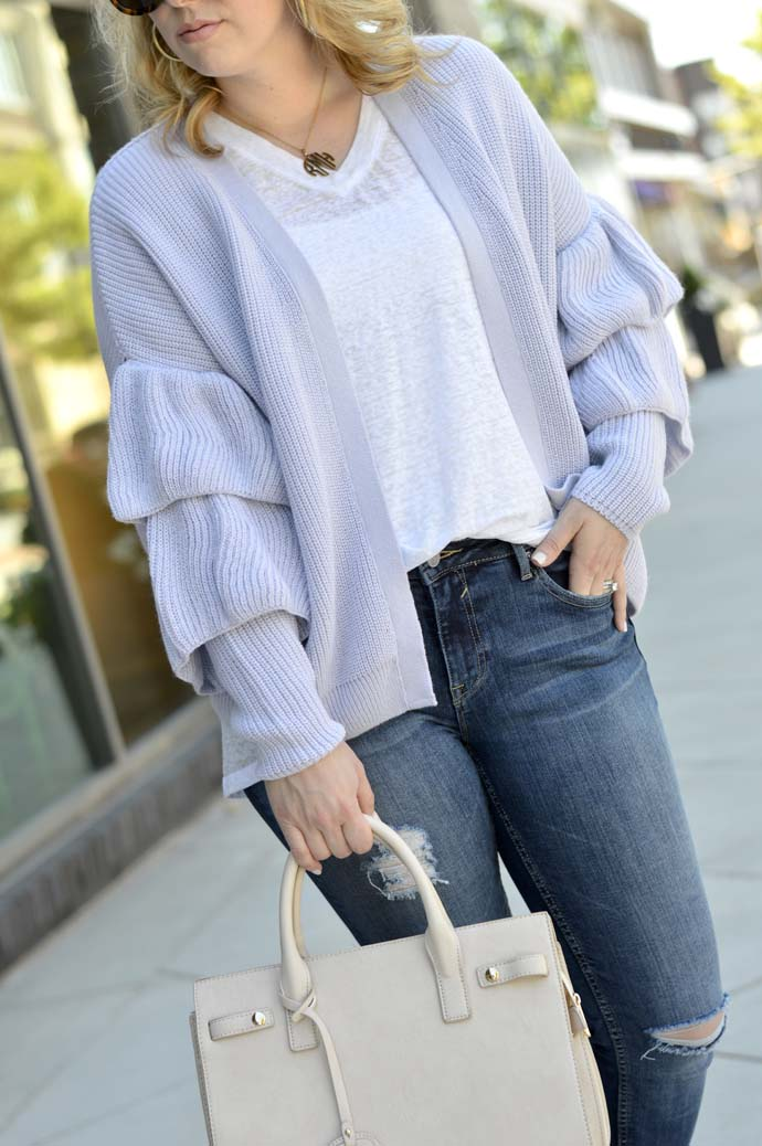 ruffle sleeve sweater topshop