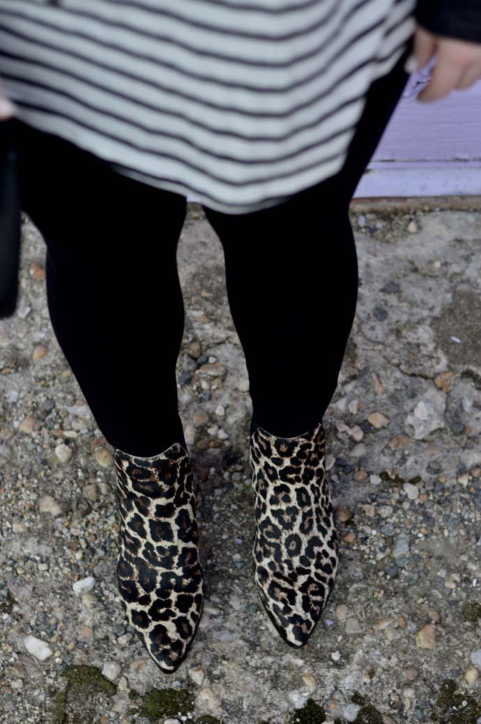 treasure and bond leopard booties