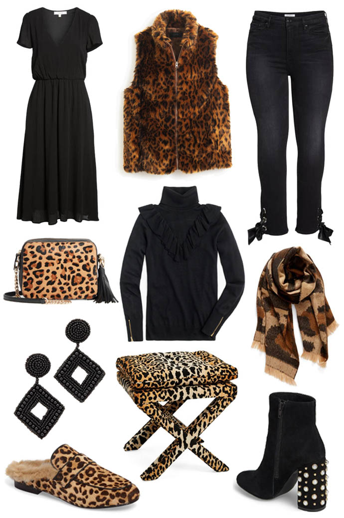 black and leopard outfit inspiration