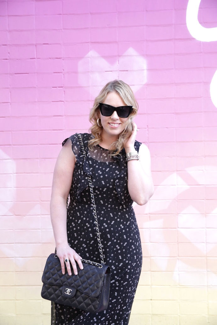 black anthropologie casual dress
