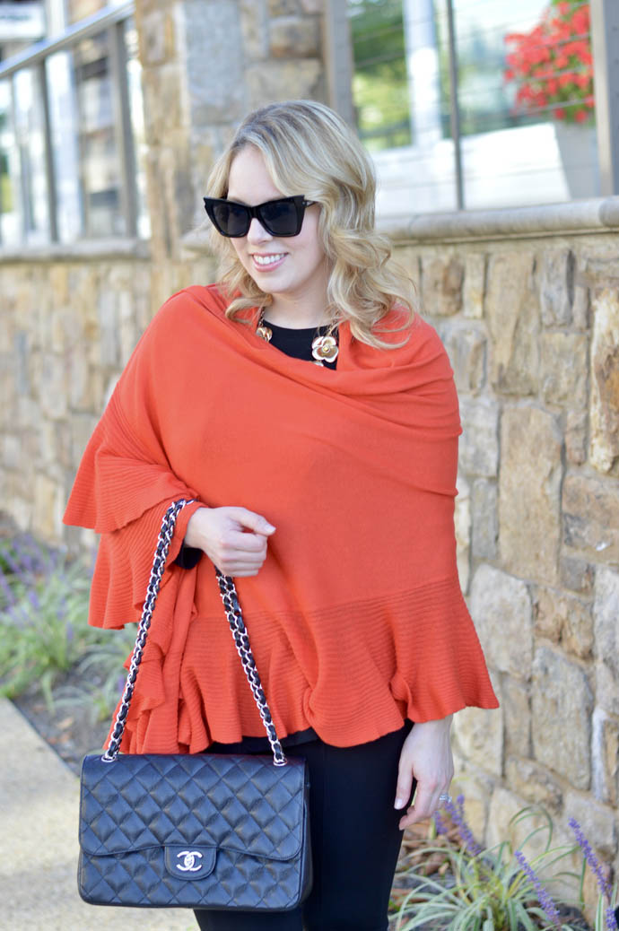 how to wear a shawl for fall