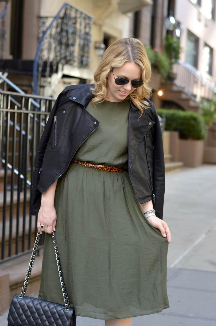 olive green fall dress