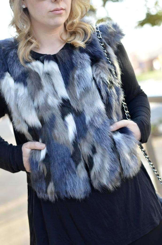 cabi faux fur vest