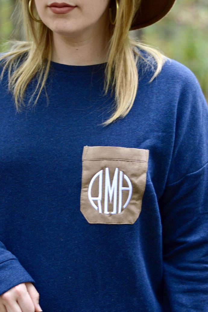 cute monogrammed fall sweater