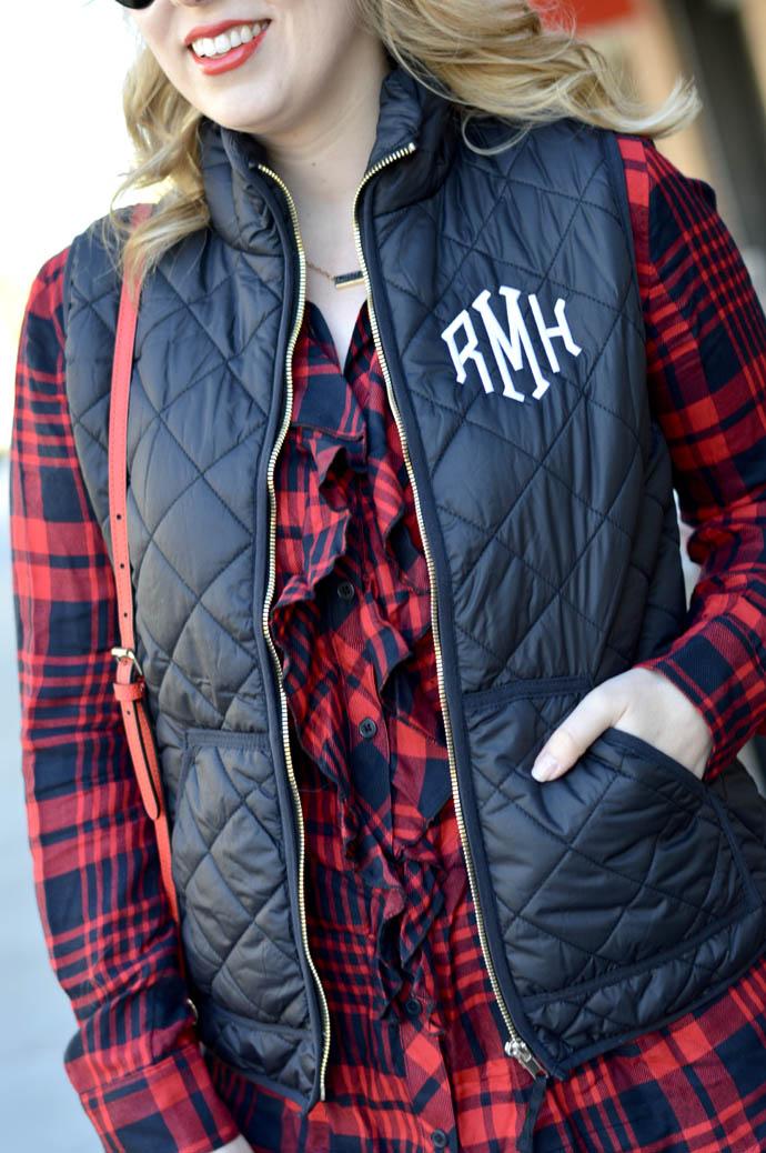 cute monogrammed vest