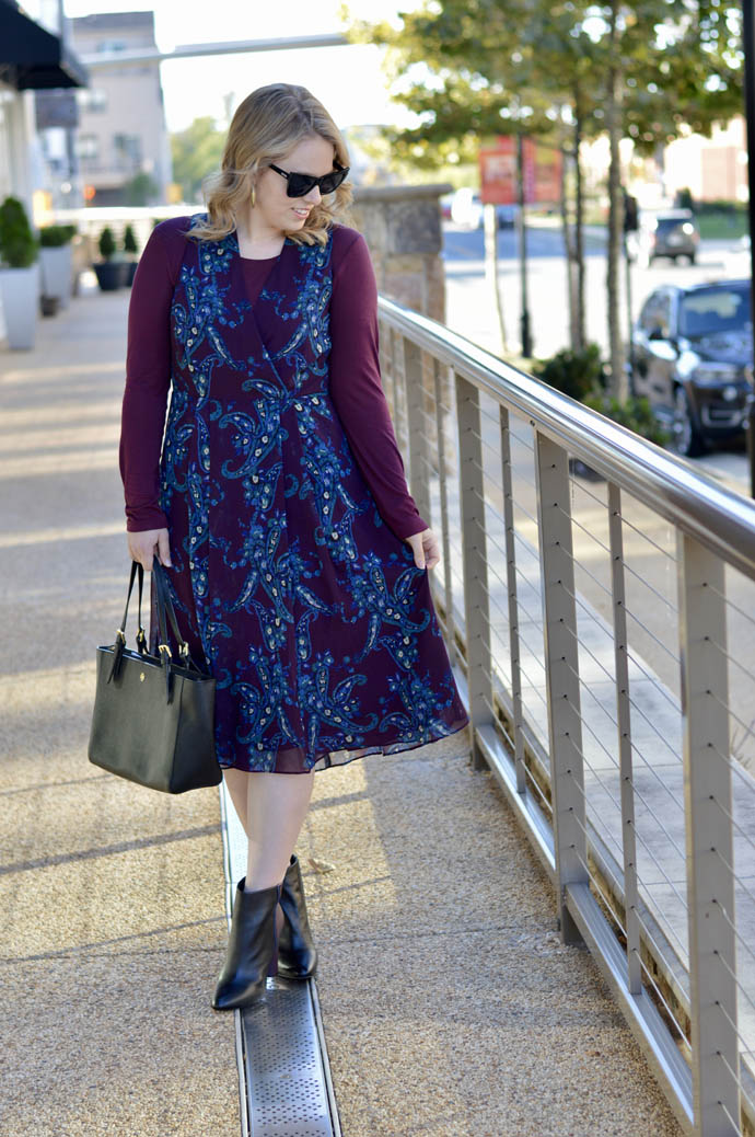 fall burgundy midi dress