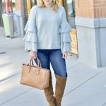 grey sweater jeans fall outfit