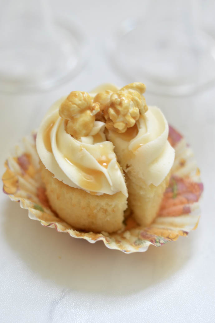 how to make caramel corn cupcakes