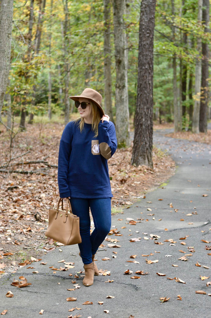 monogrammed fall sweater