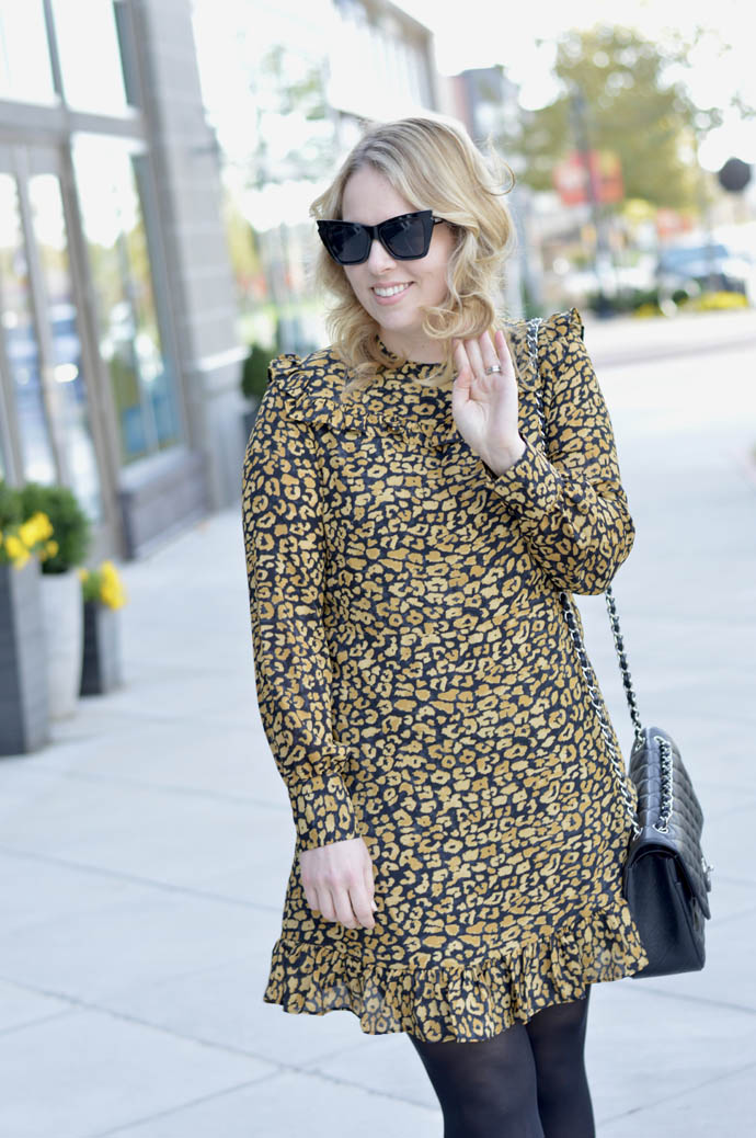 ruffle animal print dress target