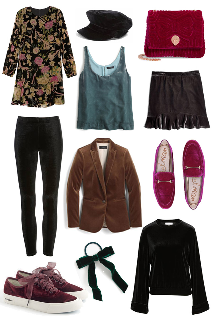 velvet outfit inspiration