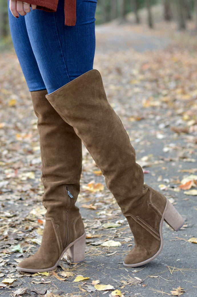 brown suede otk boots