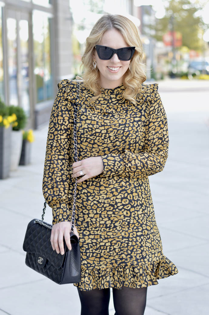 how to wear leopard fall dress
