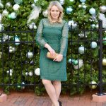 green lace dress j.crew