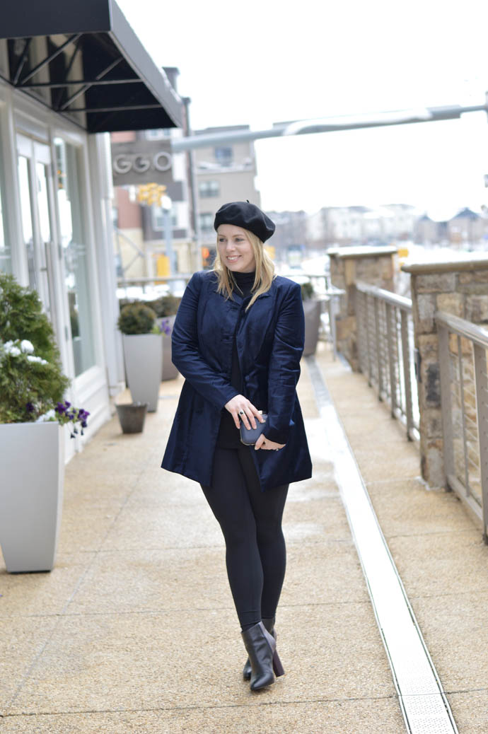 Navy Velvet Jacket A Blonde S Moment
