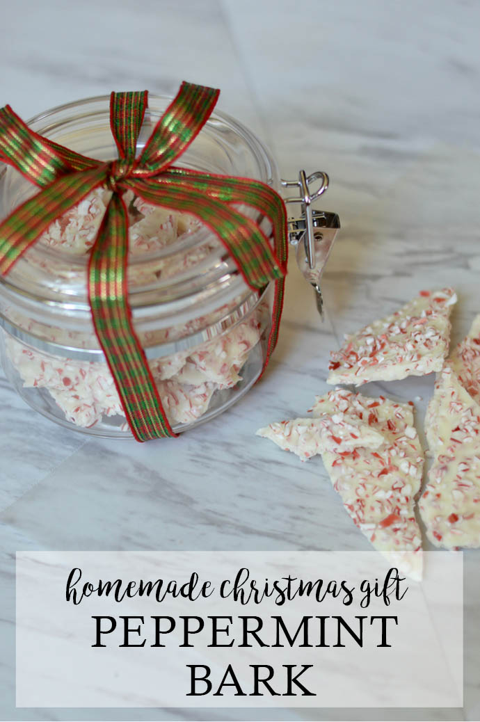 peppermint bark homemade christmas gift