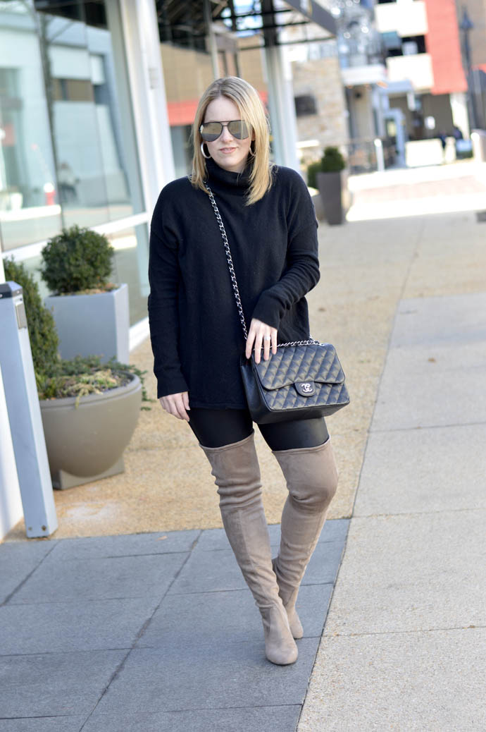 all black winter outfit ideas