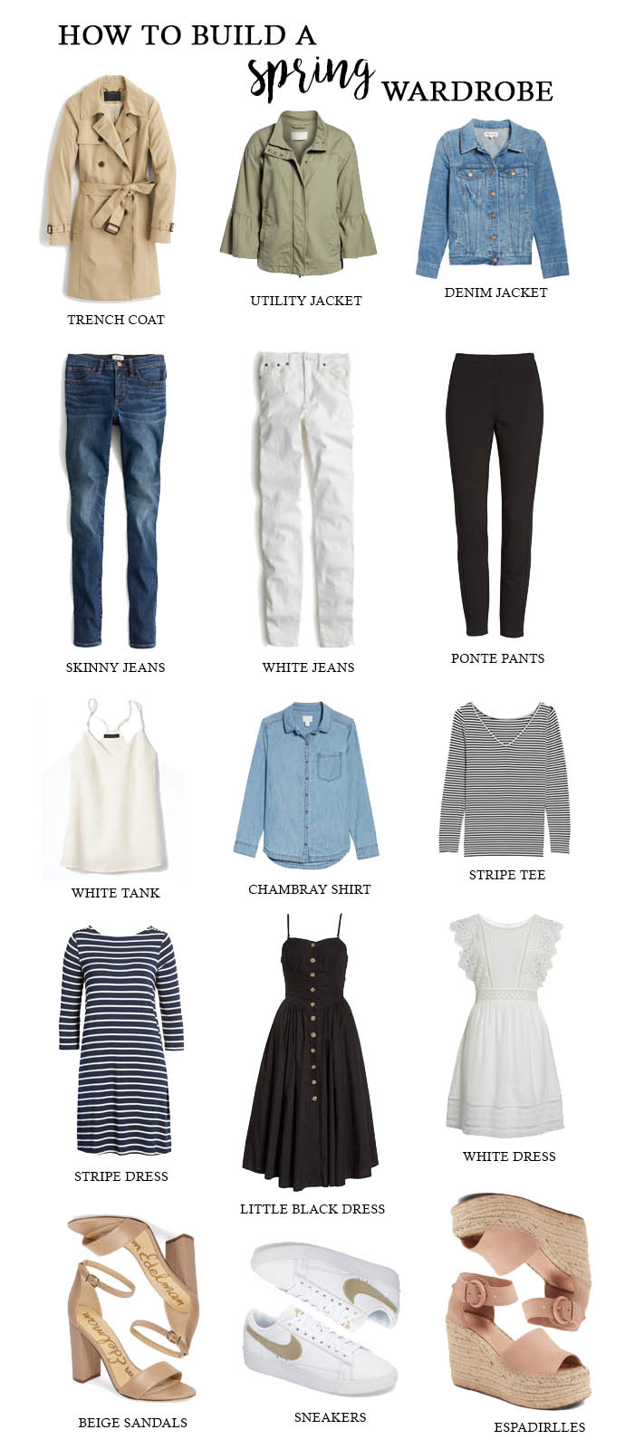 how to build a spring wardrobe
