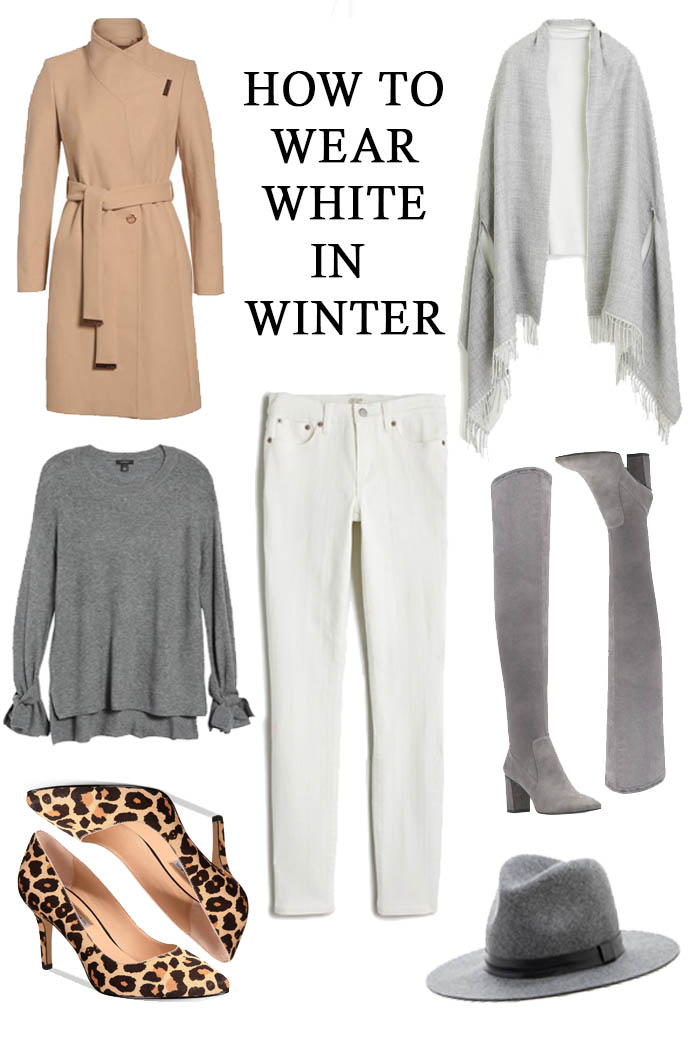 how to wear white in winter
