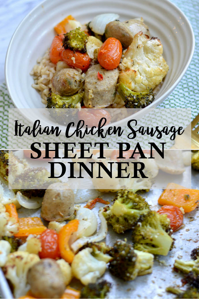 italian chicken sausage sheet pan dinner