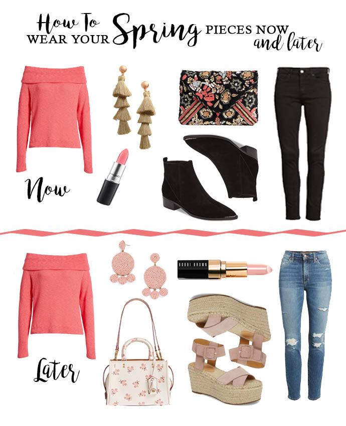 how to wear spring pieces now
