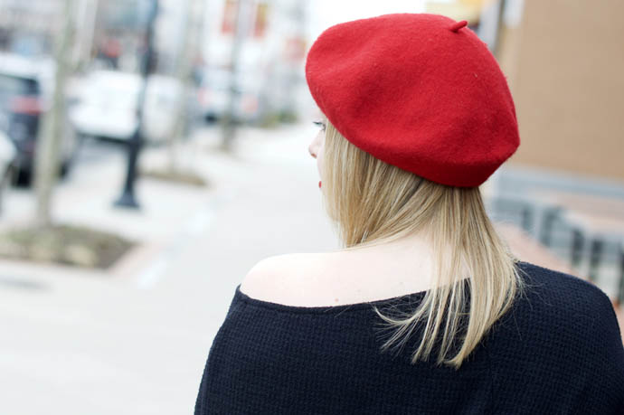 red beret anthropologie