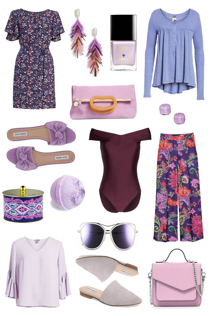 shades of spring purple inspiration
