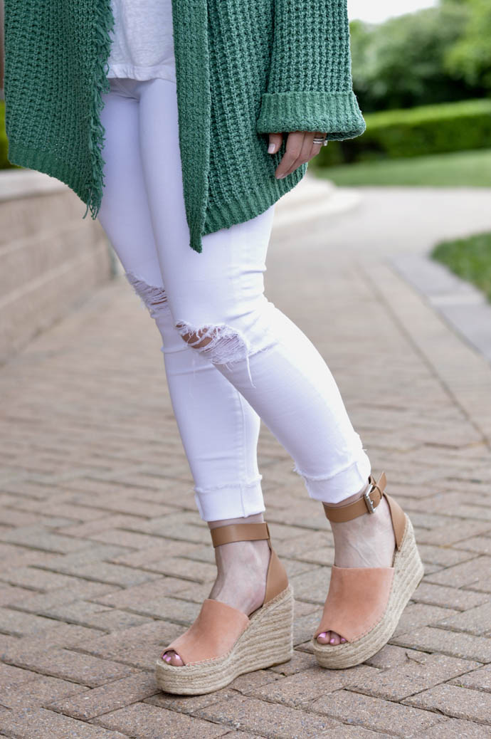 white jeans espadrilles spring outfit