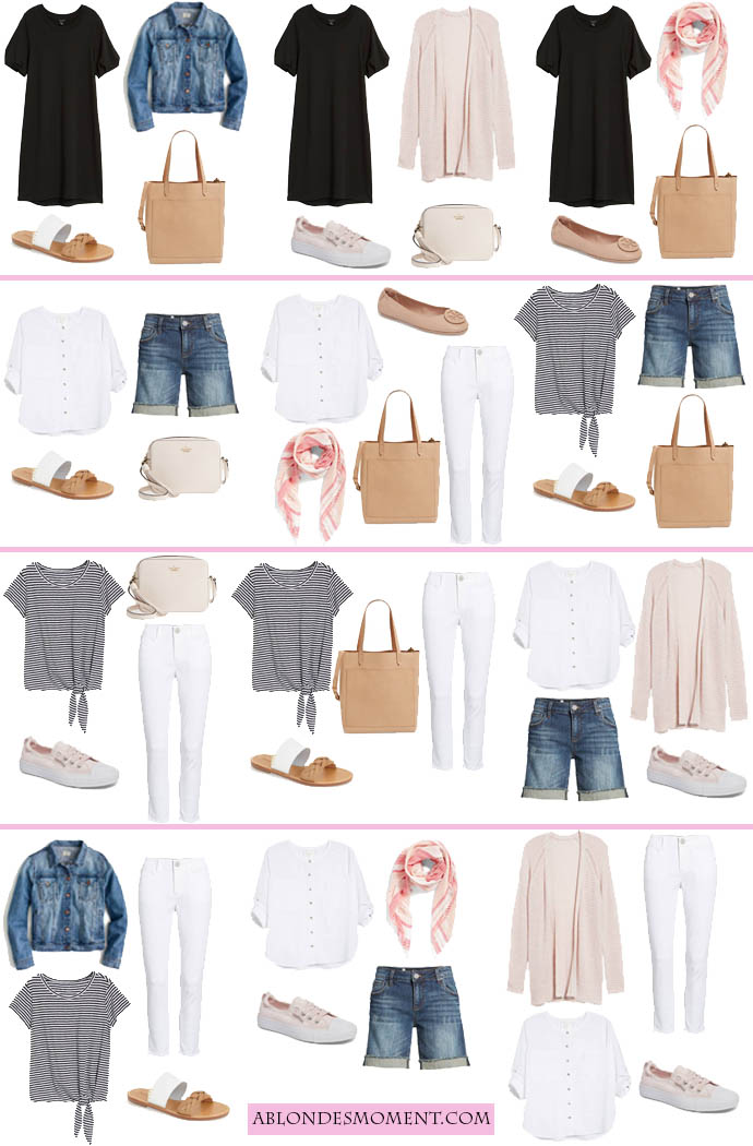 12 Outfits In A Carry On A Blonde S Moment
